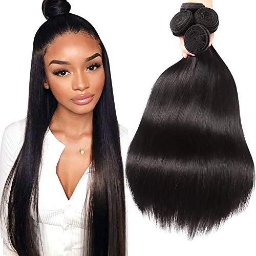 Musi tissage bresilien boucle bresilien lisse tissage en lot 4 meche bresilienne straight Hair grade 8A humain cheveux naturel 400g 20 22 24 26