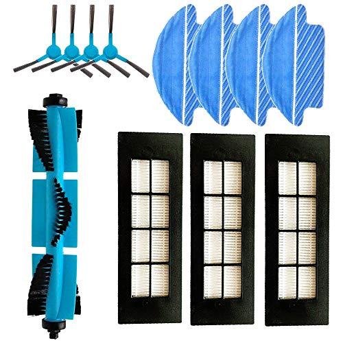 Awinker 12 Piezas Recambios para Cecotec Conga Excellence 3090 Incluso 4 Cepillo Lateral + 4 Mopas + 1 Cepillo Principal + 3 Filtros