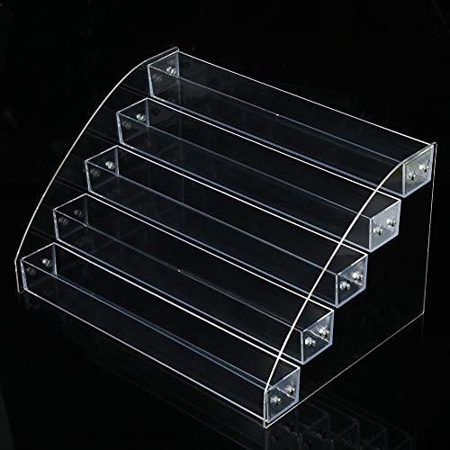BLLBOO nagellack Halter-Nagellack-Rack - 6 Typen Langlebiger Nagellack Acryl Clear Makeup Display Stand Rack Organizer Halter(5Layer)