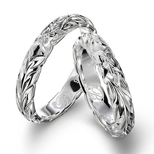 ハワイアンジュエリー ペアリング シルバー925 マイレリーフ 指輪 2個セット 【1個目:23号】【2個目:3号】 SR401P-PRIME