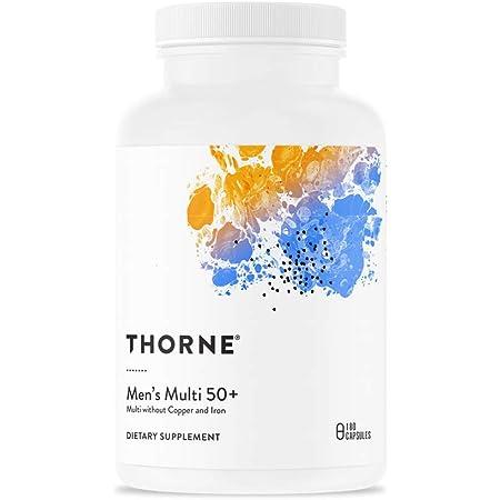 Thorne Research - Men's Multi 50+ - Comprehensive Daily Multi-Vitamin - 180 Capsules
