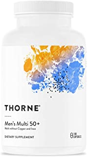 Thorne Research - Men's Multi 50+ - Comprehensive Daily Multi-Vitamin - 180 Capsules