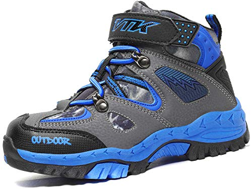 Kids Snow Boots for Boys Girls Winter Boots Outdoor Climbing Cotton Sneaker Warm Shoes Waterproof Winter Boots Snow Boots AntiSlip Steel Buckle Hiking Boots Blue Big Kid Size 35 length 235cm =924in