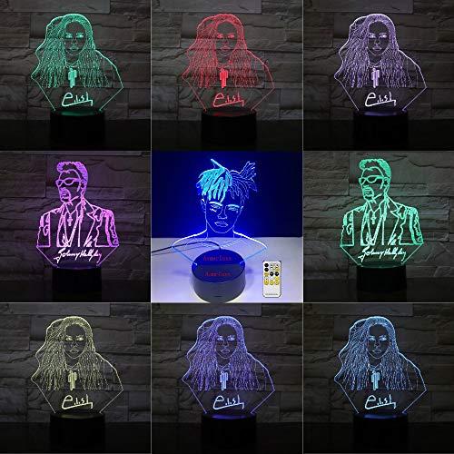 Lampada da tavolo 3D Giocattolo per bambini Regalo LED Illusion Comodino USB Cambia colore Amico cantante