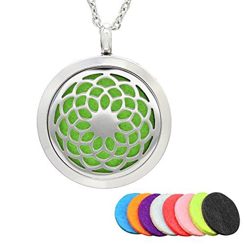 HEALLILY Collar de Difusor de Aceite Esencial Colgante de Perfume Aromaterapia Regalo para Día de Madre