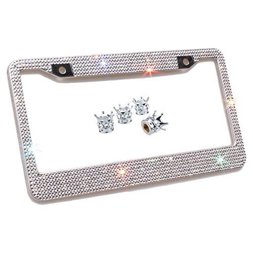 Carfond Carfond 7 Row Handcrafted 1000+ pcs Finest 14 Facets SS20 Premium Glass Crystal Diamond...