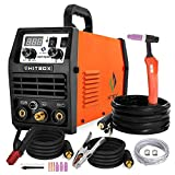 HITBOX TIG Welder 200 Amp, HF 110V/220V Dual Voltage TIG/ARC Welding Machine, 2 in 1 Inverter IGBT Stick MMA Welder (Model: HBT2000)