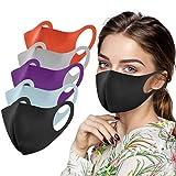 hmtitt 5 Stück Erwachsene Eisseide Mund und Nasenschutz, Wiederverwendbar Atmungsaktiv Staubdicht...