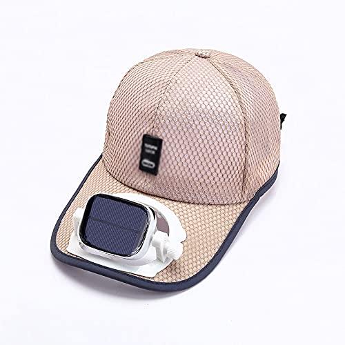 Sombrero Con Ventilador, Verano Al Aire Libre Ventilador De Refrigeración Solar Gorra De Béisbol Sombrero De Ventilador Carga Solar USB Sombra Para Exteriores Protector Solar Sombrero De Viaje Deporti