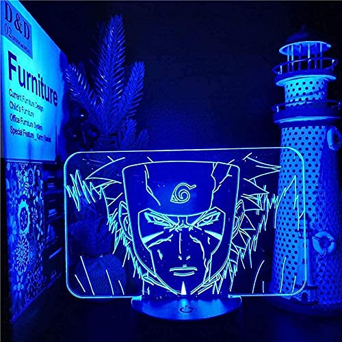 3D LED ilusión noche luz Naruto lámpara Senju Tobirama figura 3D LED noche luz decoración habitación luz cumpleaños regalo 16 colores control remoto