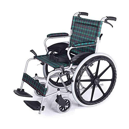 TWL LTD Leichter Faltbarer Vollgummireifen aus Aluminiumlegierung für Rollstühle mit Handbremse, 14 Kg