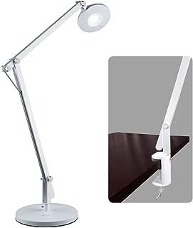 OttLite LED Crane Desk Lamp with Clamp, White
