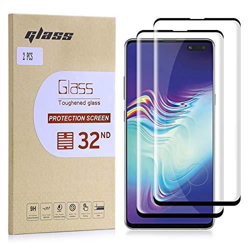 32nd Schermbeschermer, [Bubble gratis installatie], Gehard Glas Scherm Beschermer voor Samsung Galaxy S10 5G [2 stuks]