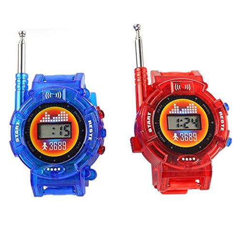 jiumoji 1 Pair Children Parent Walkie Talkies Toy 24.5x5x3cm Wrist Watch Intercom Set Outdoor Toy Best Gifts for Kids with Packing