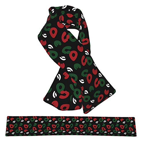 Red Camo Wallpaper Unisex Flannel Plush Double-Sided Warm Cross Scarf Plush Scarf Warm Scarf