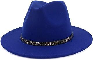 97864d7850ca9 Vim Tree Men   Women s Wide Brim Fedora Hat with Band Unisex Felt Panama Cap