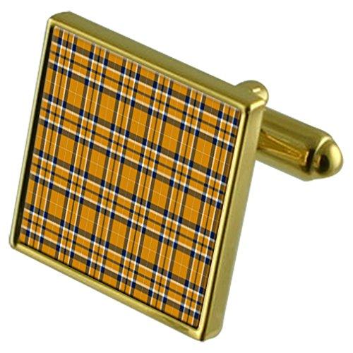 Tartan Gemelos de oro de la Universidad de Virginia Occidental en caso personalizado grabado