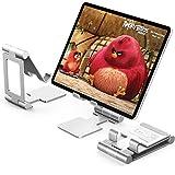 Anozer Support de Tablette Pliable, Support de Bureau en Aluminium ventilé, Base réglable pour tablettes comme iPad,Samsung...