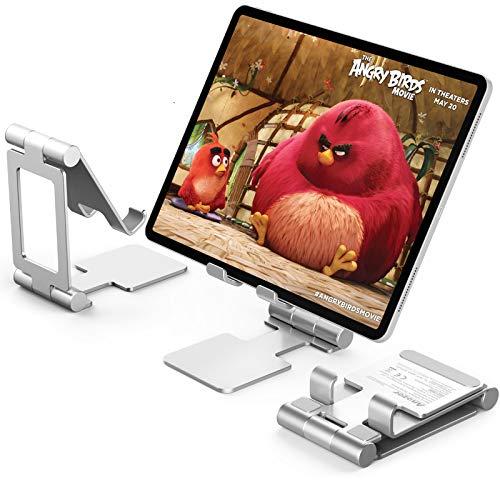 Anozer Soporte Plegable Tableta, Soporte de Aluminio ventilado Portátil Escritorio, Base Ajustable para tabletas como iPad,Samsung Galaxy Tab,Kindle,Nintendo Switch,Nexus,E-Reader,Cube,Huawei,Xiaomi