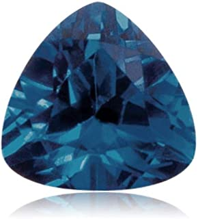 Synthetic Trillion Cut Swiss Made Rough Blue Sapphire from 5MM-8MM