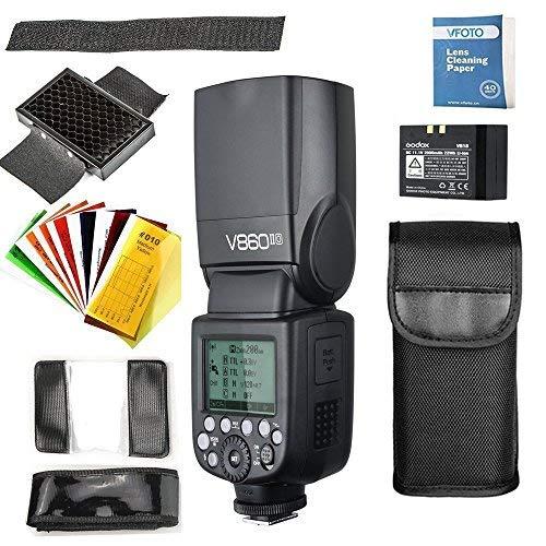 Godox Ving V860II-O 2.4G TTL Li-on batería cámara Flash Speedlite y Vfoto Lens Papel de Limpieza para Olympus E-M10II