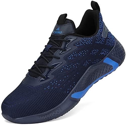 UCAYALI Zapatos Seguridad Hombre Calzado de Trabajo Mujer Zapatos de Protección Antideslizante Anti Pinchazo Zapatos de Industria y Construcción Azul A Gr.42 🔥