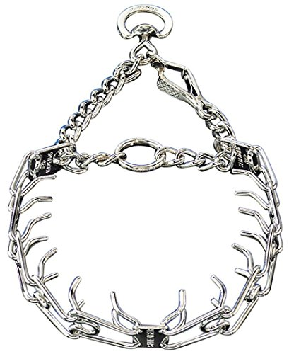 Herm Sprenger Pet Supply Imports Chrome Plated Training Collar with Quick Release Snap for Dogs, Large, 3.2mm, 23-Inch