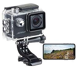 Somikon Motorrad Kamera: Einsteiger-4K-Action-Cam, WLAN Full HD (60 fps) mit Unterwassergehäuse (4K-Action-Cameras)