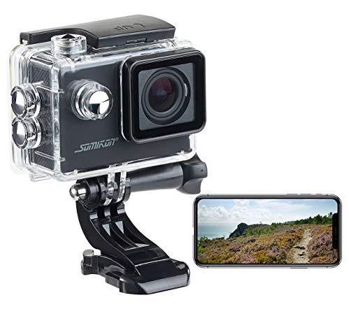 Somikon Action Camera: Einsteiger-4K-Action-Cam, WLAN Full HD (60 fps) mit Unterwassergehäuse (Fahrradkamera)
