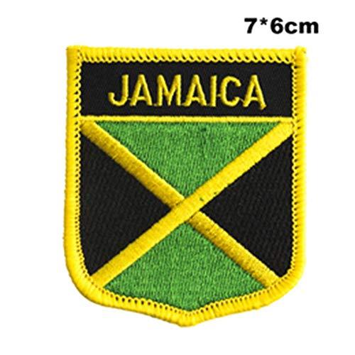Soode Jamaica Vlag naaien op patches borduurwerk patches pailletten ijzer op patches voor kleding diy kleding decoratie PT0197-S