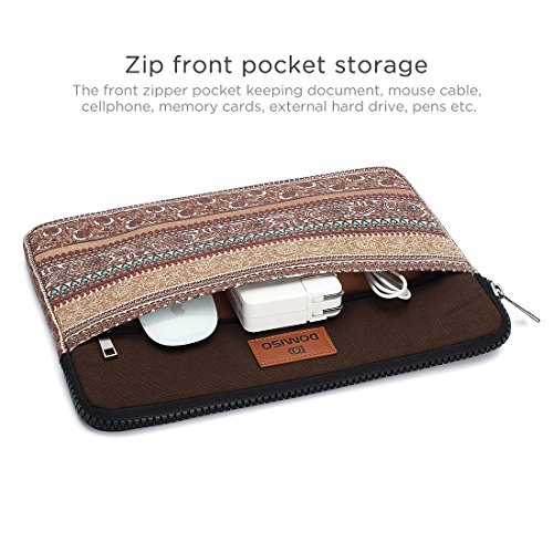 DOMISO 10 Zoll Tablette Sleeve Hülle Tasche Canvas Fabric Flower Pattern Abdeckung für 2017 New 9.7