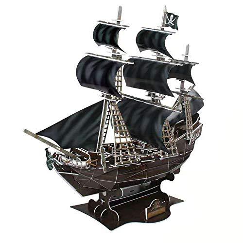 3D Puzzle Queen Anne Rache Piratenschiff Modell Schiff und Boot Kit für Erwachsene und Kinder,Aus Papier und EPS-Schaumstoff. Kein Werkzeug benötigt.
