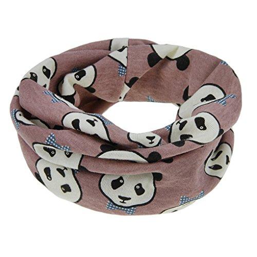 FakeFace FakeFace Kinder Loopschal Loop Schlauchschal Tuch mit Panda Muster Baumwolle Rundschal Halstücher Winter Schal für 0-12 Monaten Baby Mädchen Jungen