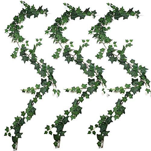 ZGQA-GQA 3Pcs Artificial Plants Ivy Wedding Garland Greenery Fake Hanging Foliage Vine for Wedding Garden Wall Decor