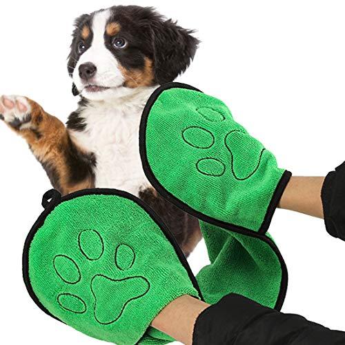 YUESEN Toalla Microfibra Perros Toallas para Mascotas Secado Rápido Absorbentes Suaves y Cómodas Lavable Paragatos y Animales Perros Pequeños Medianos 23 * 65 cm
