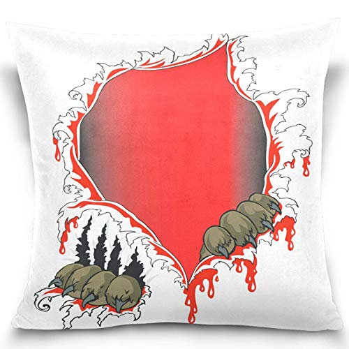 Moily Fayshow Tiger Paw Scratch Throw Pillow Covers Square Decorative Pillowcase Cushion Cover For Sofa Bedroom Livingroom 40X40 Cm