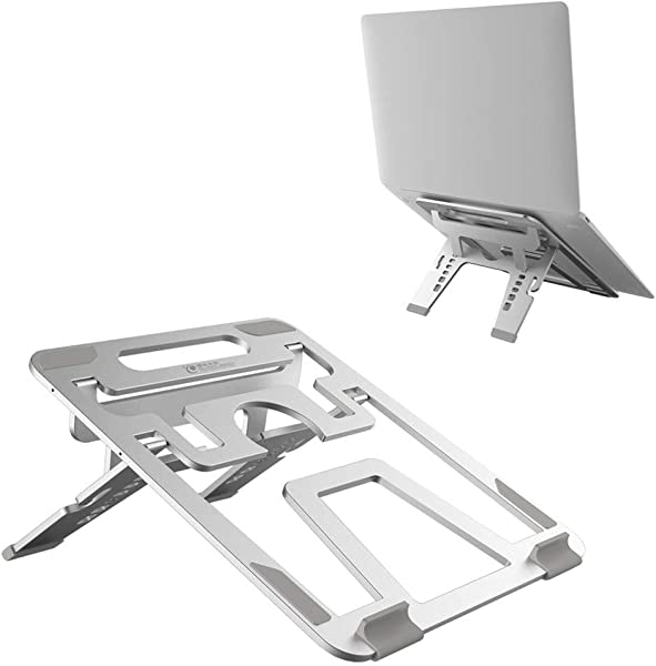 TQZY Laptop Stand Folding Aluminum Alloy Non Slip Pad Cooling Stand For MacBook Computer Stand
