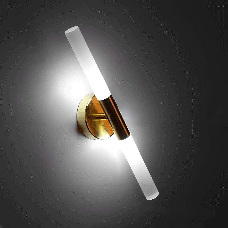 Doppelkopf-LED-Wandleuchten, modernes minimalistisches Schwarz Gold-Acryl-Beleuchtungs-Hotel hngen hngende helle Wandlampen nordische Gang-Speisetisch Wandleuchte (Farbe   Gold-Weies Licht)