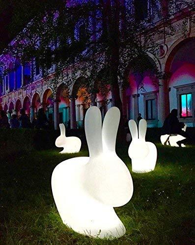 grigio chiaro Qeeboo 90001LG Rabbit Chair Baby Plastica 45,3 x 26,2 x 52,7 cm