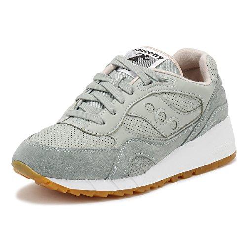 Saucony Uomo Aqua Grigio / Marrone Shadow 6000 HT Perf Sneaker-UK 10