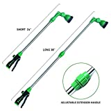 EasyGoProducts EGP-GARD-001 EasyGo Watering Wand Telescopes from 24' to 38' with 8-Patt, Green