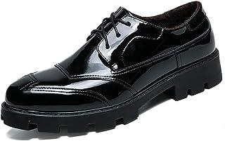 Sygjal Men's Business Oxford Casual Fashion Classic Antiskid Wear Outsole Formal Patent Solid Color Shoes (Color : Black, Size : 43 EU)