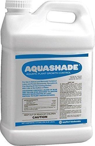 Applied Biochemists 390725A Aquashade Aquatic Plant Growth Control, 2.5 gal