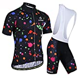 HXTSWGS Jersey de Ciclismo Transpirable para Hombre, Ropa de Bicicleta de Manga Corta, Camiseta de MTB Superior para Bicicleta, Transpirable Summer-A12_XS