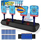 Growsland Electronic Shooting Target for Nerf Guns - Auto Reset Digital Scoring Nerf Target Practice Toys for 5 6 7 8 9 10+ Year Old Boys Xmas Gifts Black