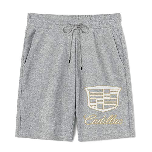 Mens Casual Shorts Workout Cadillac-for-Sale-Near-me-Logo- Fashion Pants Comfy Beach Shorts and Pockets
