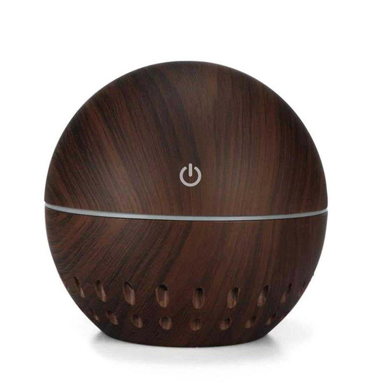 摂氏度壁音声学加湿器、USB 7色常夜灯車載ホーム透明加湿器アロマセラピーマシン