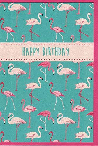 Glückwunschkarte zum Geburtstag * Flamingos
