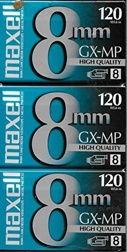 Maxell GX-MP 120 Camcorder Tapes, 3 Pack