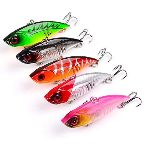 FEIYI Fishing & Hunting - Señuelo de pesca (5 unidades, 6,5 cm, 10,5 g), diseño de Pesca artificial